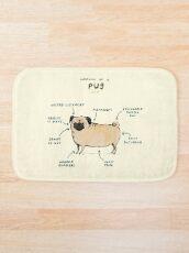 Anatomy of a Pug Bath Mat