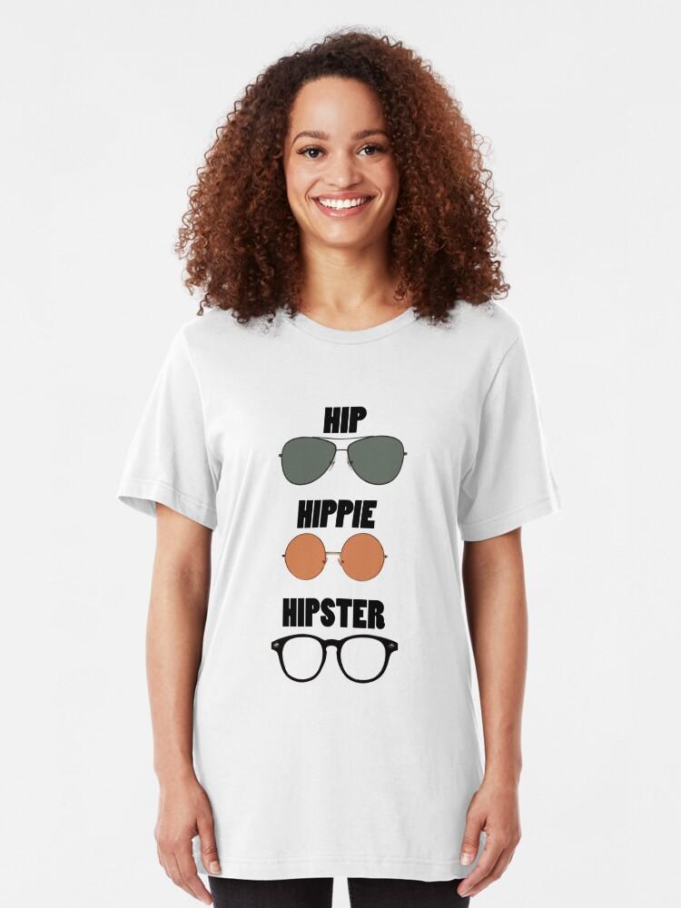 Alternate view of Hip Hippie Hipster Slim Fit T-Shirt