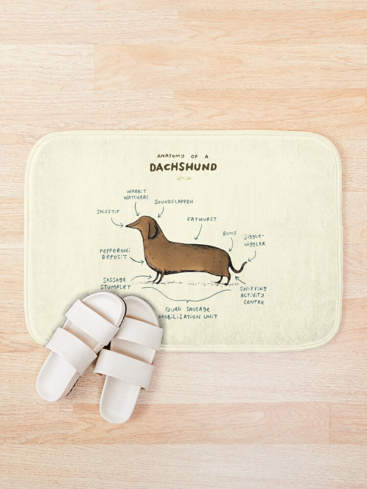Alternate view of Anatomy of a Dachshund Bath Mat