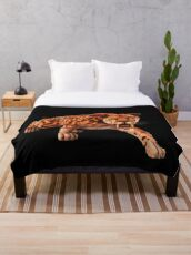 Saber tooth tiger, primeval, prehistoric cat Throw Blanket