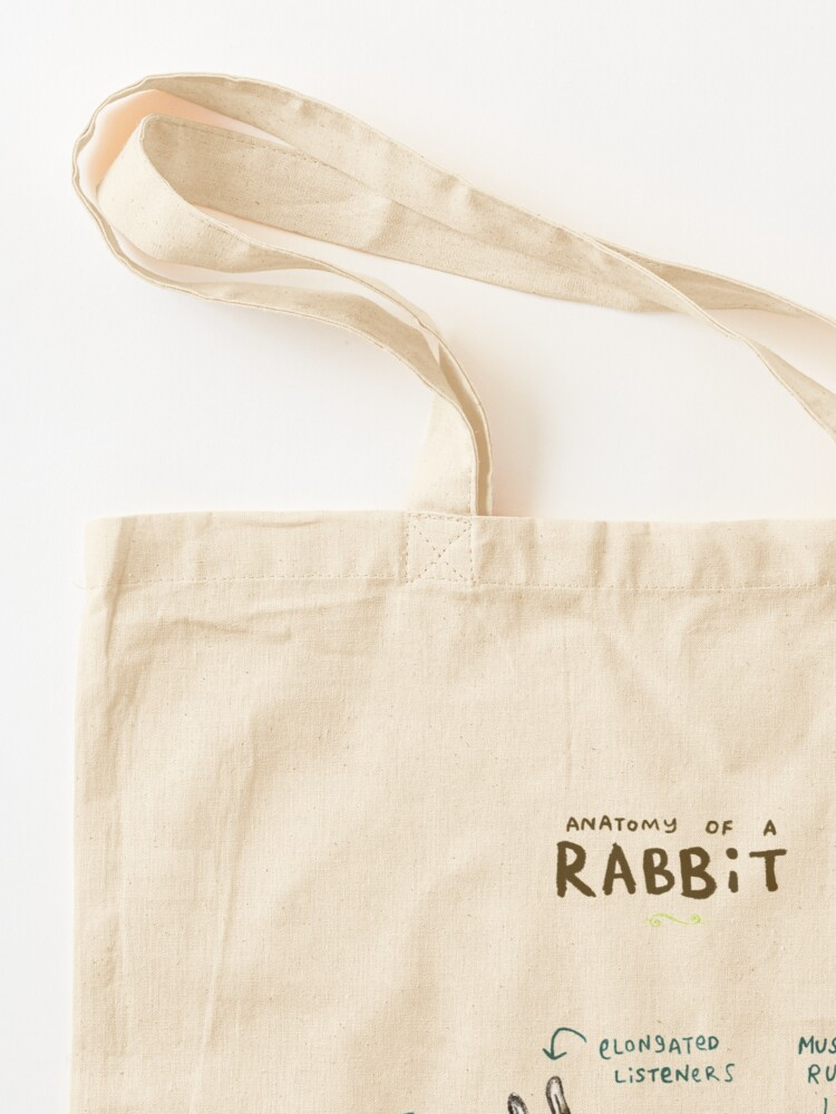 Alternate view of Anatomy of a Rabbit Tote Bag