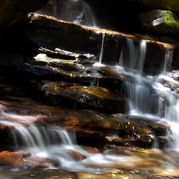 Over Rocks - Somersby Falls    by AmyBonnici