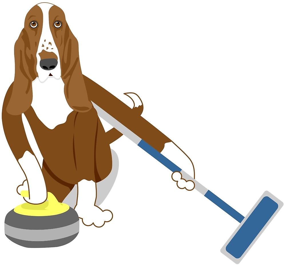 Basset Hound Curling by pounddesigns