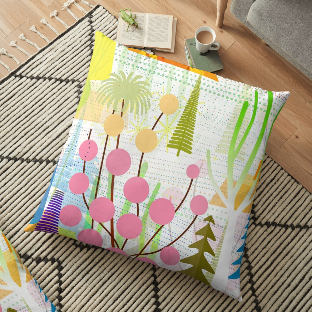 Fresh Day Floor Pillow