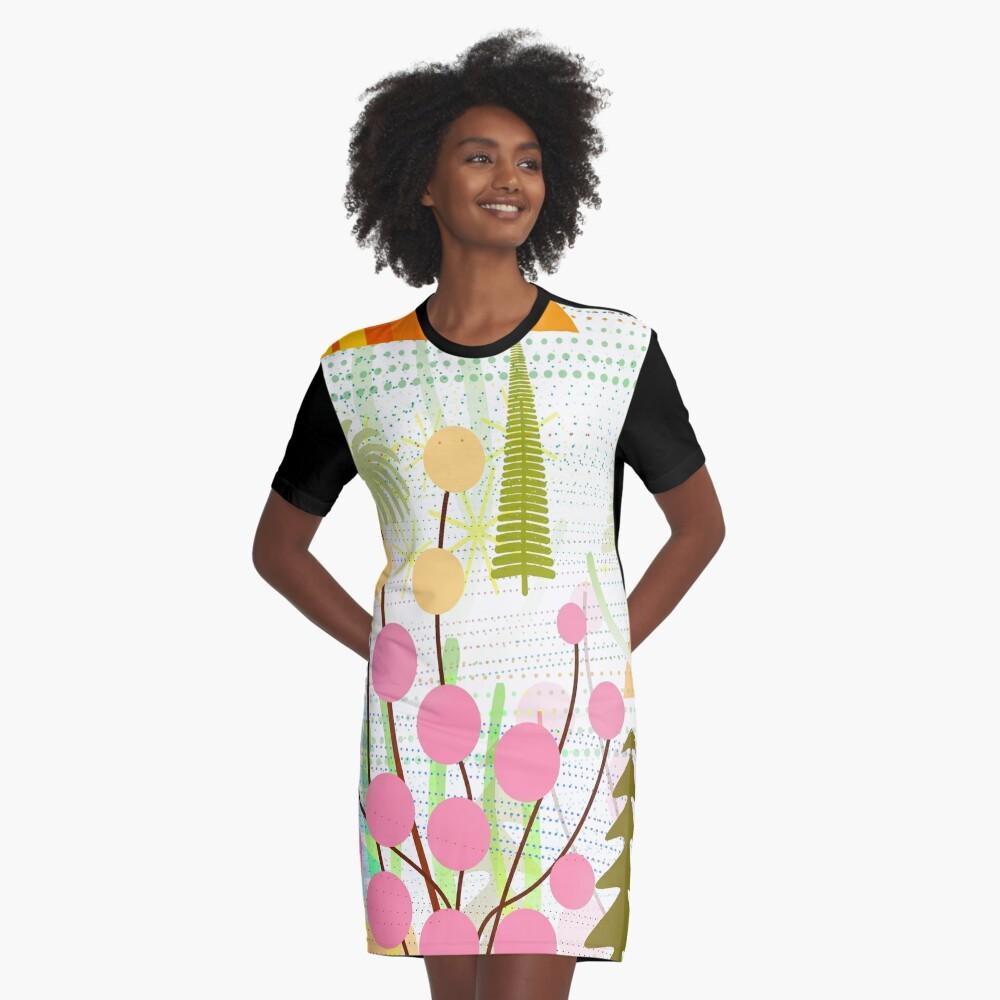 Fresh Day Graphic T-Shirt Dress