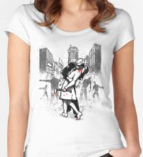 Z Day Zombies Women's Fitted Scoop T-Shirt