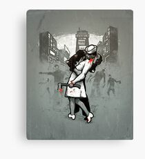 Z Day Zombies Canvas Print