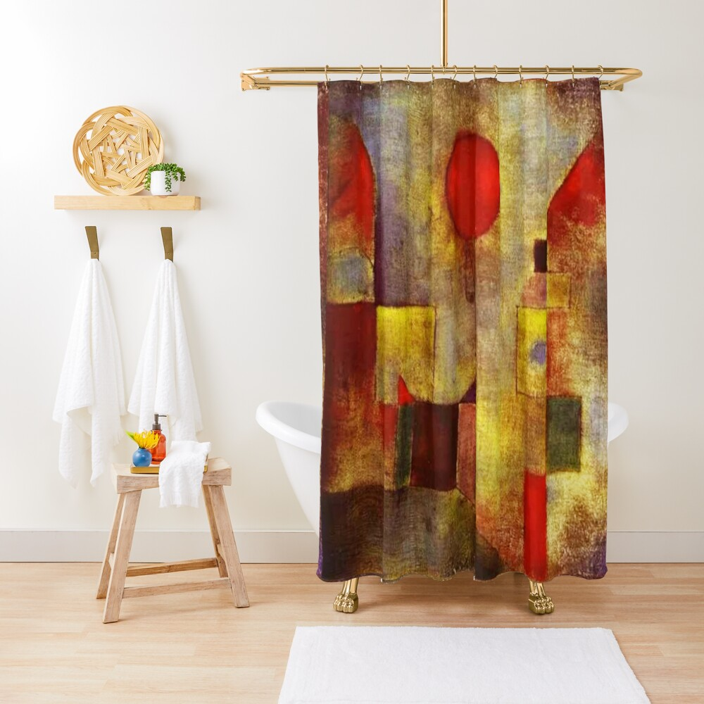 Red Balloon, 1922, painting by Swiss artist, Paul Klee. Shower Curtain
