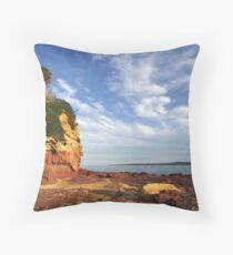 Bar Beach at Merimbula Throw Pillow