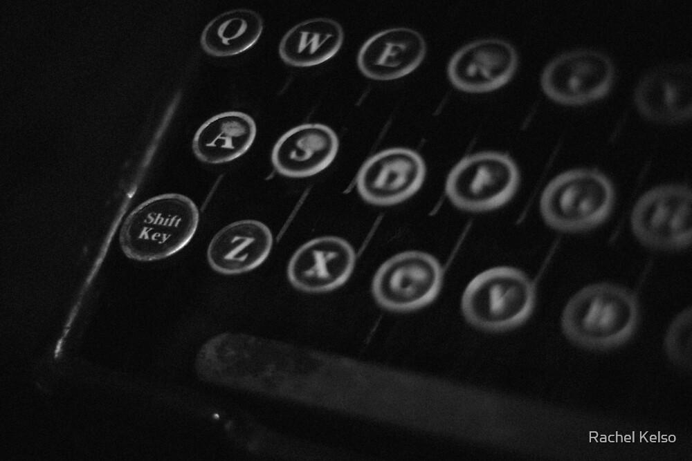 Old typewriter - keys by Rachel Kelso