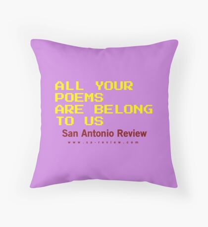 All Your Poems Are Belong to Us - San Antonio Review Floor Pillow