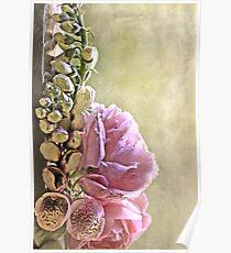 """Foxgloves & Roses ..."" Poster"