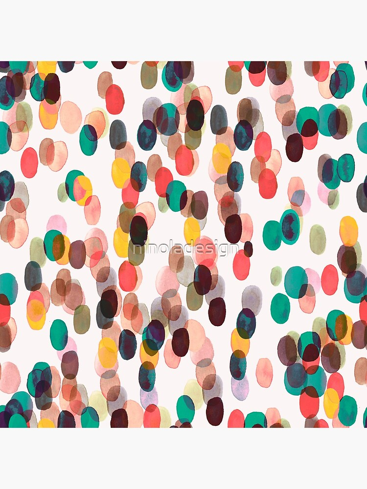 Tropical rain dots - Orange green yellow by ninoladesign