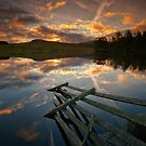 Waiting for the dawn... Loch Moraig, Perthshire by David Mould
