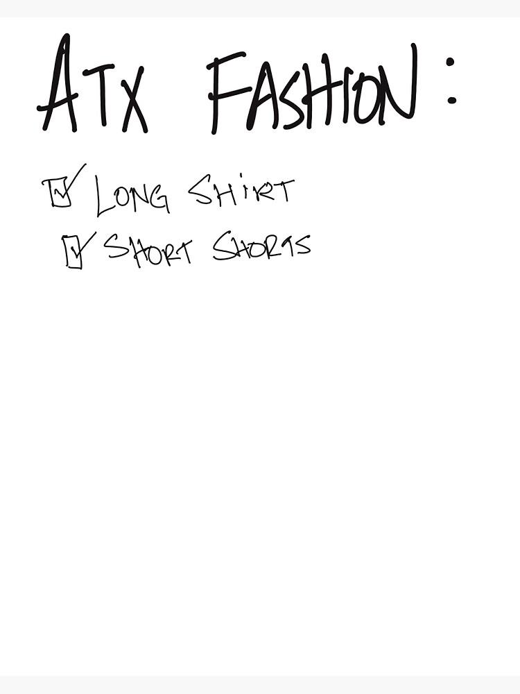 Austin fashion checklist simple by OvrThnkr
