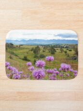 Mission Mountains and Horsemint Bath Mat