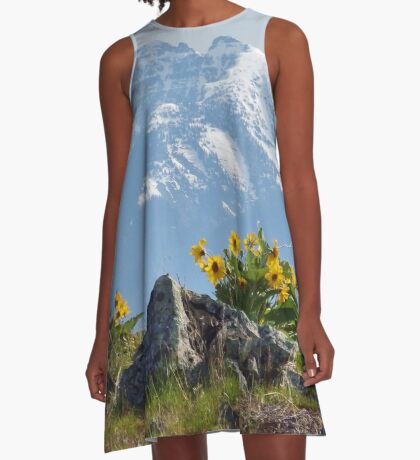 Mission Mountains Balsamroot A-Line Dress