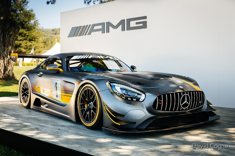 Mercedes amg gt3 posters by david coyne redbubble for Mercedes benz poster