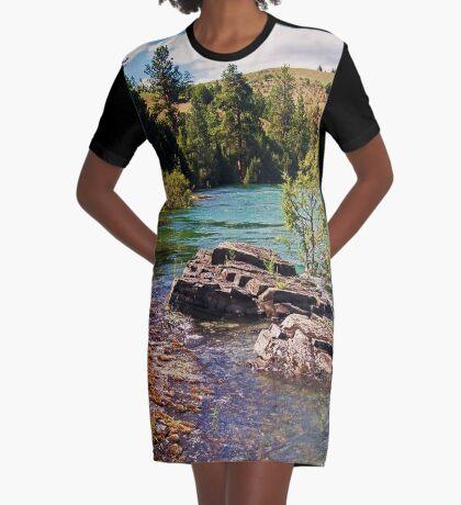 Lower Flathead River Graphic T-Shirt Dress
