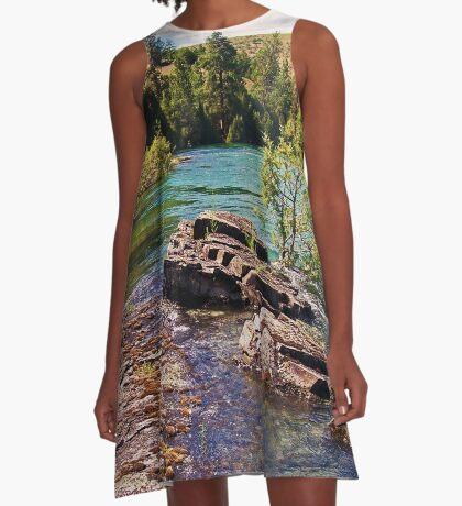 Lower Flathead River A-Line Dress