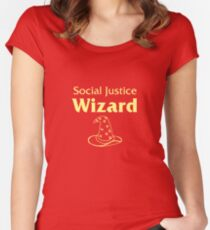 Social Justice Wizard Women's Fitted Scoop T-Shirt