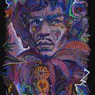 Psychedelic Haze Rock Portrait by David Sanders