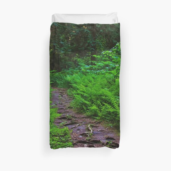 Path to the Old Cedars Duvet Cover