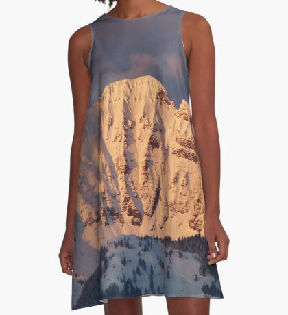 Snow Capped Missions A-Line Dress