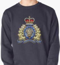 Royal Canadian Mounted Police - RCMP Badge over Waving Flag Pullover