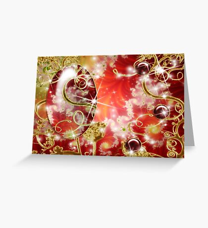Abstract Fractal Jewel Greeting Card
