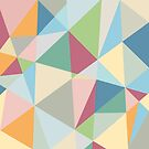 Pastel Colorful Geometric Modern Pattern by artonwear