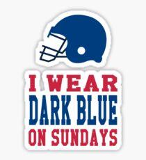 I Wear Dark Blue on Sundays Sticker