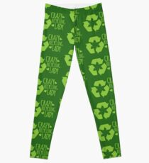 Crazy Recycling Lady Leggings