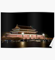 The Tian'anmen at night Poster