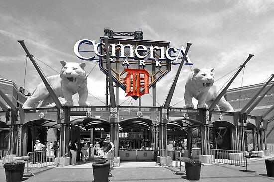 Comerica Park baseball stadium Detroit by Chris L Smith