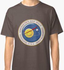 NASA Emblem over American Flag Classic T-Shirt