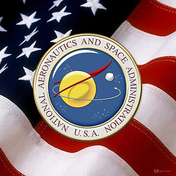 NASA Emblem over American Flag by Captain7