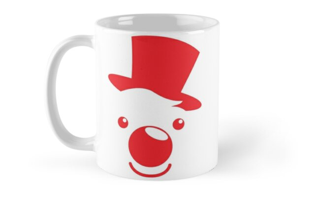 Red simple circus clown cute! by jazzydevil