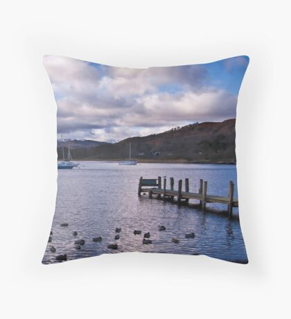 Early Morning at Windermere Throw Pillow