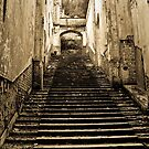 Staircase to a long forgotton castle by Selina Ryles
