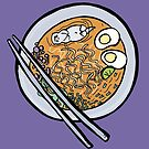 Sea Otter Swimming In Bowl of Ramen by Otter-Grotto