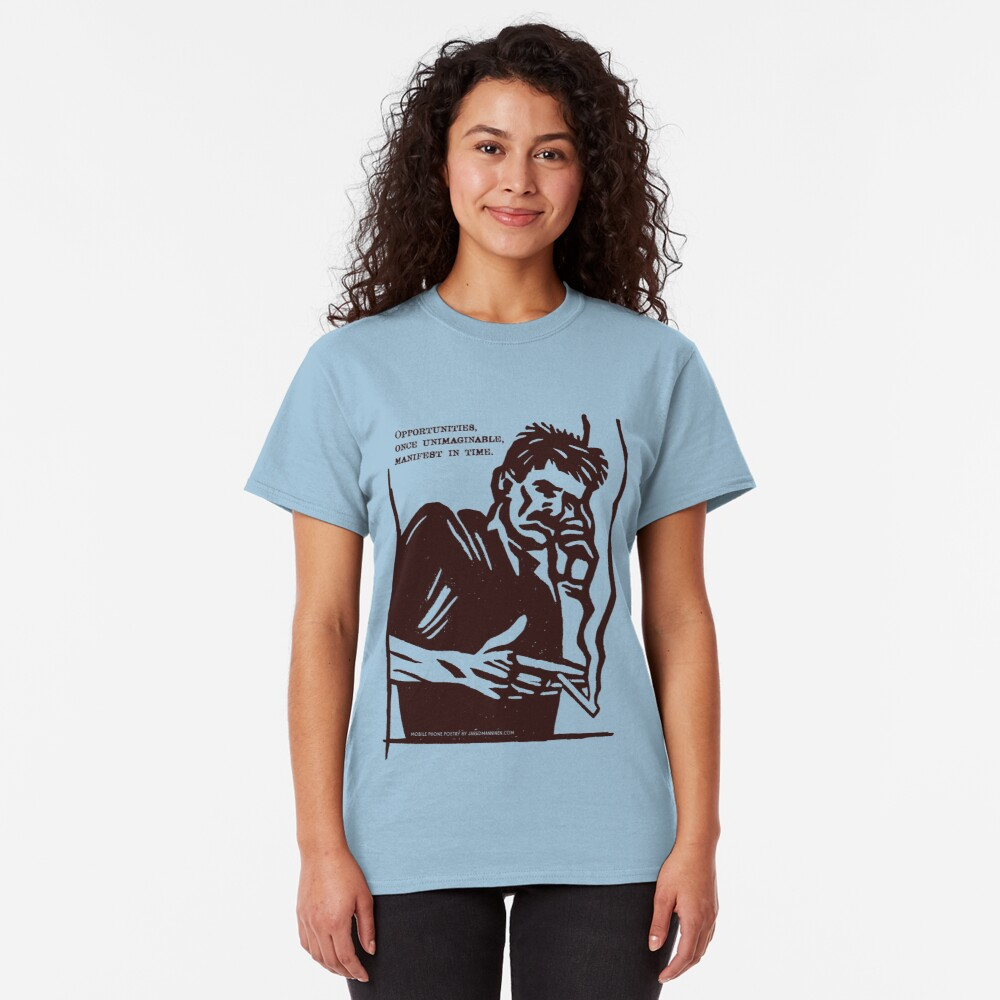 Mobile Phone Poetry Classic T-Shirt