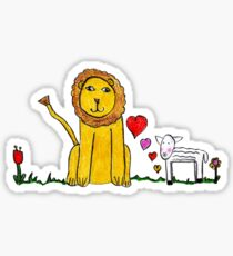 Tane's Lion and Lamb Sticker