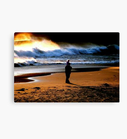 BEACH COMBING... Canvas Print