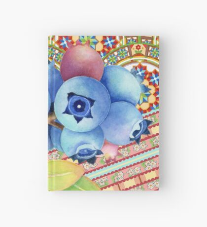Rococo Nouveau Maine Blueberries Hardcover Journal