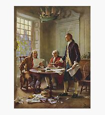 Writing The Declaration of Independence Photographic Print