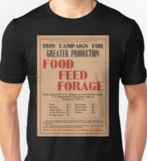 United States Department of Agriculture Poster 0064 Greater Production Food Feed Forage Unisex T-Shirt