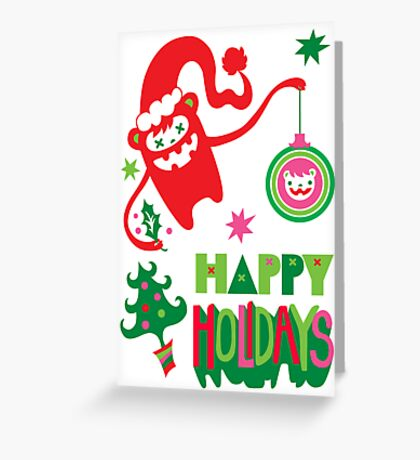 Monster Holidays card  Greeting Card