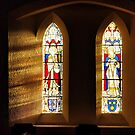 Stained glass Reflections  by Lilian Marshall