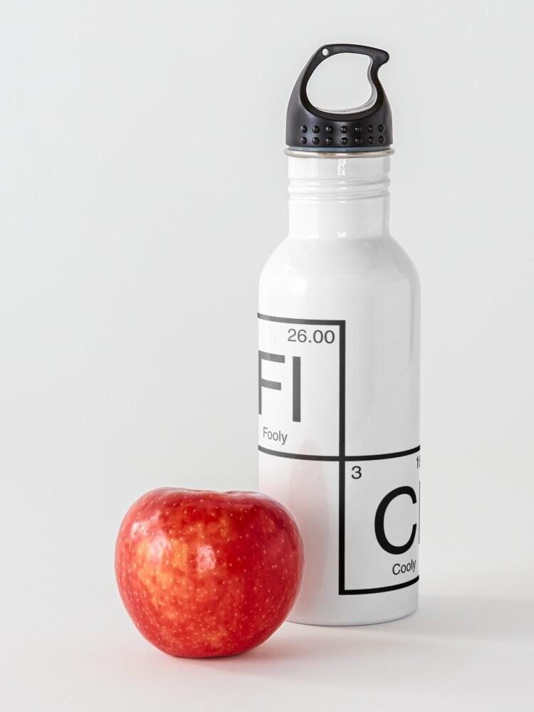 Alternate view of FLCL Periodic Table Water Bottle